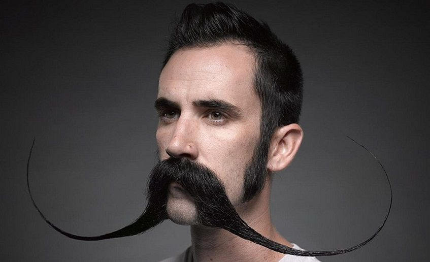 how to wax a mustache