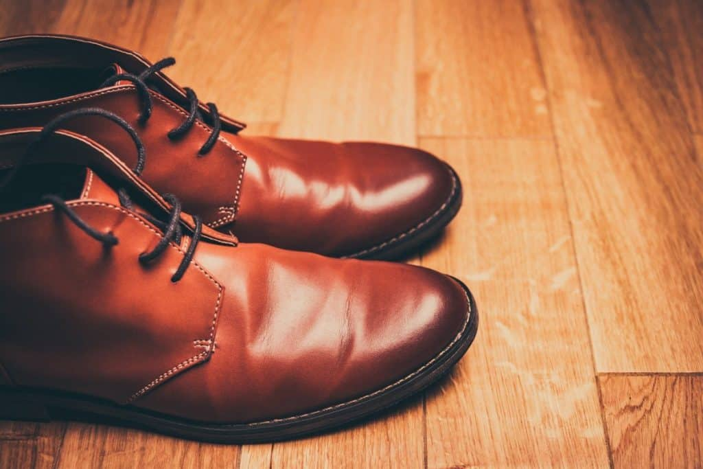 What causes leather shoes to peel